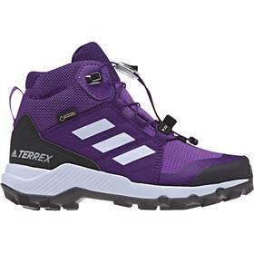 adidas TERREX Mid GTX Shoes Kids actpur/aero blue/trupnk